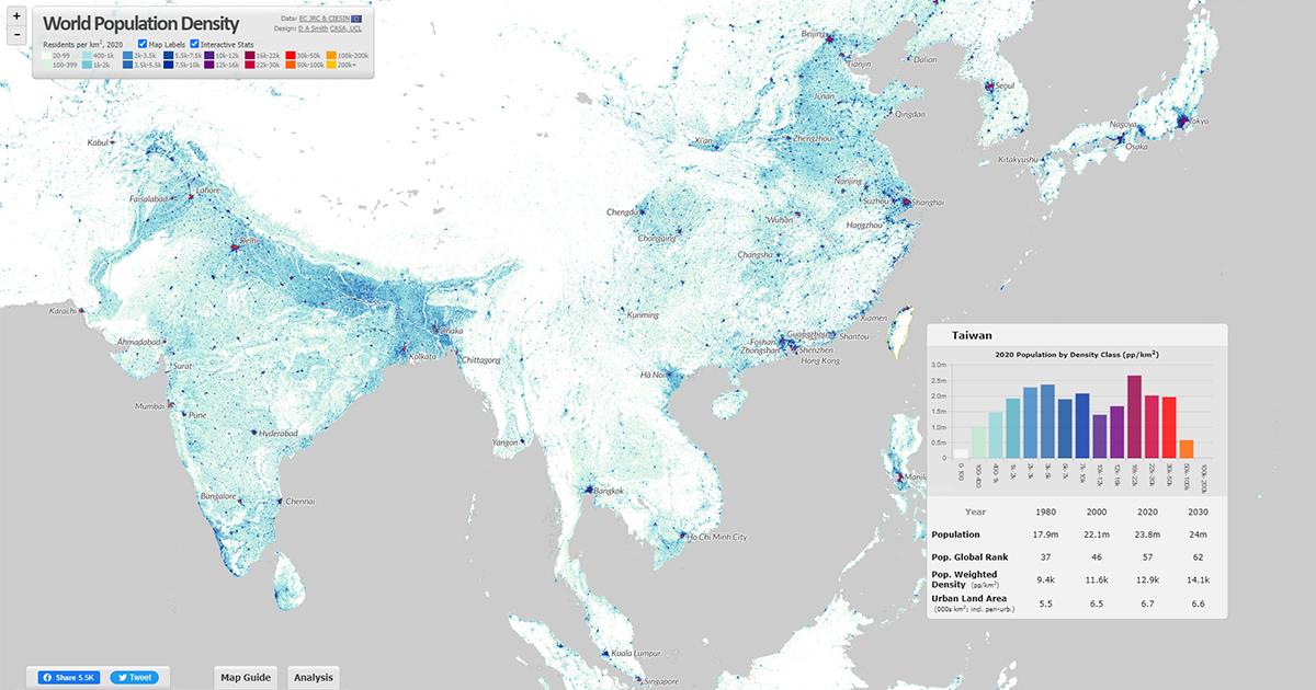 Population Density Maps World Population Density Interactive Map Population Density Maps